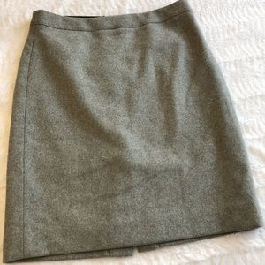 J. Crew wool blend pencil skirt in gray